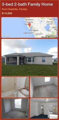 3-bed 2-bath Family Home in Port Charlotte, Florida ►$114,900 #PropertyForSaleFlorida http://florida-magic.com/properties/34515-family-home-for-sale-in-port-charlotte-florida-with-3-bedroom-2-bathroom
