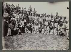 Kurdish Soldiers in traditional Costumes, 1890-1900, Brooklyn Museums' Archive.