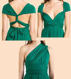 Bridesmaid dresses on etsy... I love all of the color choices they have and the different styles. I wonder if you could have them made long?