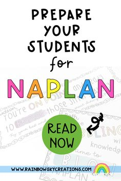 NAPLAN rolls around year after year. No matter if you are a teacher that supports national testing or not, Year 3 and Year 5 teachers need to do their best to support their students through the lead-up and week of testing. Being both Year 3 teachers this year, we decided to put together our top ideas to help prepare your students for NAPLAN. Note: These ideas are based on supporting your students emotionally and mentally, not a list of test prep activities. Primary Classroom, School Classroom, Primary School, Rainbow Sky, Australian Curriculum, Test Prep, Teaching Resources, Rolls, Students