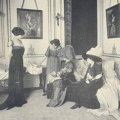 greatgdean:  House of Worth Salon De Vente Paris fashion 1910