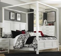 Sofia Fairy Tale Style Pearl White 4 piece Twin Bedroom Set