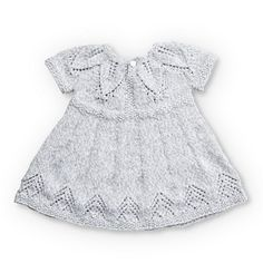 Free knitting pattern for a baby dress with a fairy leaves stitch detail. Suitable for 12 and 18 months. Free knitting pattern for a baby dress with a fairy leaves stitch detail. Suitable for 12 and 18 months. Baby Patterns, Knitting Patterns Free, Knit Patterns, Free Knitting, Dress Patterns, Free Pattern, Baby Boy Knitting, Fair Isle Knitting, Häkelanleitung Baby