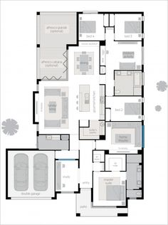 Seaview 16 Executive - Upgrades floor plan 4 Bedroom House Plans, New House Plans, Dream House Plans, Modern House Plans, House Floor Plans, Home Decor Bedroom, Bungalows, Building Design, Building A House
