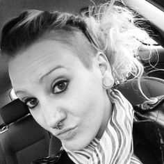 Twisted and pinned up :) undercut, hairstyle, DIY, shaved head, half shaved head, up do, fun hair