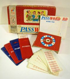 Password game, i still have this game entact...I hate board games but I did play this with my grandma and it holds special memories...even played it again, same game, with my sons
