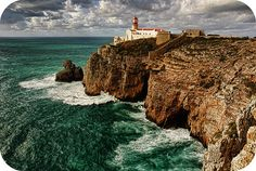 The Cliffs of Cabo de São Vicente (Portugal). 'There's something thrilling about standing at Europe's most southwestern edge, a headland of barren cliffs. A fortress and lighthouse perch on the cape. A new museum beautifully highlights Portugal's maritime navigation history.' http://www.lonelyplanet.com/portugal/the-algarve/sagres