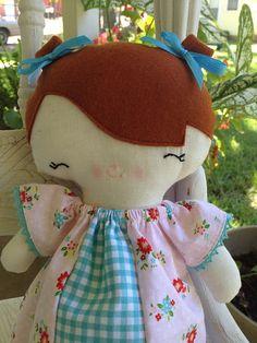 Handmade Eco Friendly Vintage Style Doll / Ragdoll by babydearest, $35.00