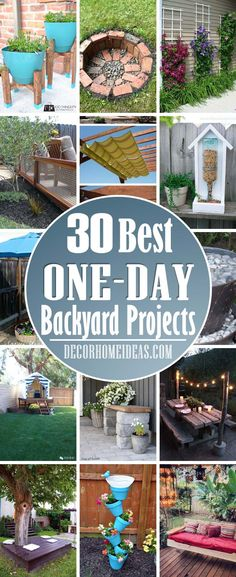 Best One Day Backyard Project Ideas. Great summer DIY project for your garden or backyard. Outdoor Crafts, Outdoor Projects, Diy Garden Projects, Garden Crafts, Diy Outdoor Furniture, Furniture Projects, Diy Furniture, Yard Design, Backyard Landscaping