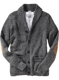 Shawl-Collar Donegal Cardigan