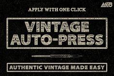 Check out Vintage Auto-Press by Matt Borchert on Creative Market