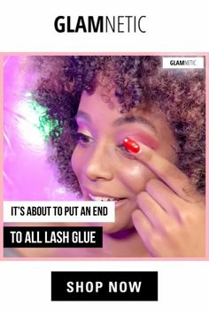 """Glamnetic has the best Magnetic Eyeliner for Magnetic Eyelashes I've ever tried! It stays all day and the liner applies so smoothly, and the lashes are GORGEOUS!"""" 😱🤯 make up videos Glam lashes without Glue! Magnetic liner for Magnetic Lashes! Elf Makeup, Skin Makeup, Makeup Tips, Makeup Videos, Makeup Products, Prom Makeup, Wedding Makeup, Maquillaje Diy, Eyeliner"""