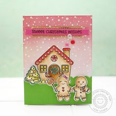 Lexa's Artsy Corner: Sunny Studio Stamps Jolly Gingerbread Christmas Card by Lexa Levana