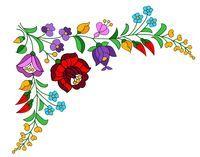 Kalocsai Flowers 2 by MexCraziness on DeviantArt Mexican Embroidery, Hungarian Embroidery, Folk Embroidery, Embroidery Fashion, Embroidery Patterns, Folk Art Flowers, Flower Art, Bordado Floral, Scandinavian Folk Art