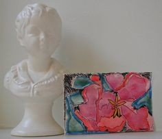 exotic by DeonnaJanone on Etsy #floralart #floral #flowers #atlart #artyoga #artminis #watercolor #4x6 #abstractart #interiordesign #design #thatsdarling #weloveatl #etsyartist #shopetsy #deonnajanone