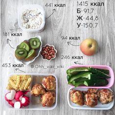 МЕНЮ на 1415 ккал💙 ____ 🌀 ЗАВТРАК - Ленивая овсянка (готовим с вечера) Геркулес 60 гр, заливаем молоком 2,5% 50 гр и йогуртом натуральным… Healthy Recepies, Healthy Dishes, Healthy Foods To Eat, Healthy Eating, Clean Eating Recipes, Raw Food Recipes, Cooking Recipes, Sports Food, No Calorie Foods