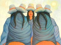 Hugo Lecaros, Latin American artist from Cuzco, Peru, depicts the serene life of Andean Indians in his watercolors. His oil paintings with turbulent skies and rugged mountains are impressionistic masterpieces at Iguana Galleries in Los Gatos, California. Peruvian People, South American Art, American Artists, Van Gogh, Impressionist, Painting & Drawing, Cute Animals, Brush Strokes, Watercolors