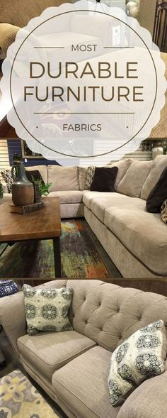 """Buying a couch is an investment, so it's no surprise customers often ask us: """"What is the most durable furniture fabric?"""" Get the most bang for your buck with these durable fabric options. Learn more at woodstockoutlet.com."""