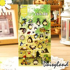 1X Cute Kawaii Totoro DIY Decorative Stickers Scrapbooking Diary Album Stick Label Paper Decor Kids Gift