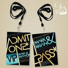 Backstage Pass Party Invitation by lizcarverdesign on Etsy, $5.00
