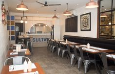 The success of Sultan's redesign has led to a gradual expansion, with the restaurant setting up another location within a few months of its relaunch. Branding, Nook, Restaurant, Studio, Interior, Table, Furniture, Environment, Design