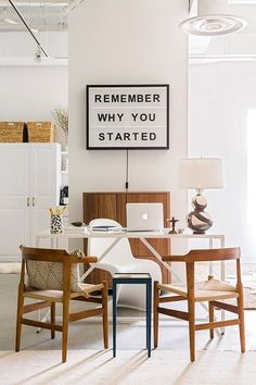 Interior design inspiration for a classic office space by Waiting on Martha.