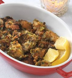 Oysters rolled in seasoned breadcrumbs and Parmesan cheese set the tone for a spectacular seafood meal.