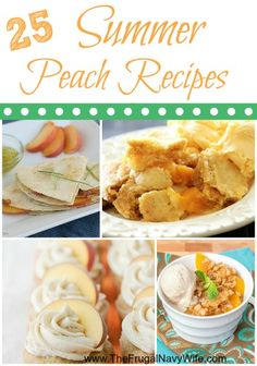 25 Summer Peach Recipes Round Up - Wit peaches abound try out these amazing peach recipes your family will LOVE!