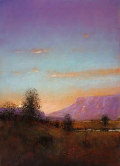Mesa Sunset pastel by Tom Perkinson