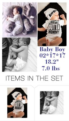 """baby boy announcement - mark & ry"" by victoriahasbigcitydreams-backup ❤ liked on Polyvore featuring art"