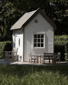 This makes me want to paint our shed white instead of matching the house color.