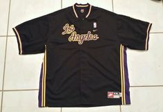 Rare Vintage NIKE Los Angeles Lakers THROWBACK Warm Up Jacket Men's 2XL  STITCH #Nike #LosAngelesLakers