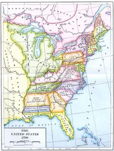 Us History United States in 1790 and About 1802 US History