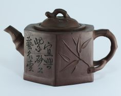 A Fine 19th C Antique Chinese Qing Dynasty Yixing Teapot Pottery ...