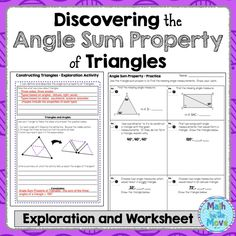 ANGLES OF TRIANGLES Maze, Riddle, & Coloring Page (Fun MATH ...