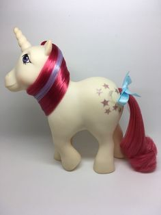 Vintage MLP G-1- Hasbro My Little Pony ~ MOONDANCER ~ Unicorn ~ YR 2 ~ GUC
