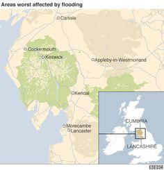 Map showing parts worst-affected by flooding