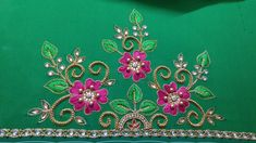 Latest Embroidery Designs, Saree Embroidery Design, Hand Embroidery Patterns Free, Hand Embroidery Videos, Simple Embroidery, Hand Embroidery Designs, Aari Embroidery, Cutwork Blouse Designs, Simple Blouse Designs