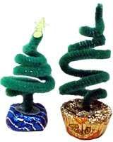 This is something the kids can do. Cute trees with pipe cleaners and use candy as a base for the tree. Maybe get more elaborate with red dots for bulbs etc.