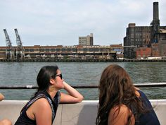 5 Fun Things To Do in August With Kids in New York City: East River Ferry Cruise under the Williamsburg, Manhattan, and Brooklyn Bridges