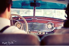 Broken 1940's Car Vintage Engagement Session in Texas by Clayton Austin