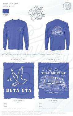 Sigma Kappa | Sigma Kappa Pocket Tee | The House That Built Me |  South by Sea | Sorority Shirts | Sorority Tanks | Greek Shirts