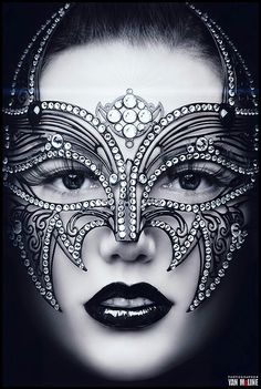 ♡Fantasy face makeup& Masquerade Mask