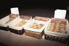 Cookie bar! Great idea for a country theme wedding, birthday party or holiday! Family reunion using only family recipes!