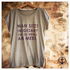 Lässiges Shirt für Männer von der Küste, Baumwoll T-Shirt mit Print / casual jersey shirt with print, fashion for men made by pension via DaWanda.com