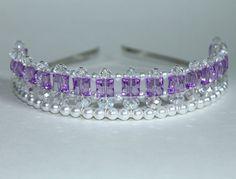 Pretty Purple Princess Tiara, Princess Tiara, Flower Girl Tiara, Birthday Tiara
