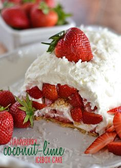 This Strawberry Coconut-Lime Icebox Cake is super simple to make, requires no baking, and is a stunning spring dessert that everyone will en...