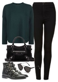 """""""Sin título #2313"""" by camila-echi ❤ liked on Polyvore featuring Topshop, Jaeger, Balenciaga, RetroSuperFuture and Givenchy"""