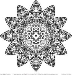 Free Printable | Meditation Mandala | Adult Coloring Pages from mandalacoloringmeditation.com
