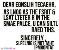 Dear English Teacher